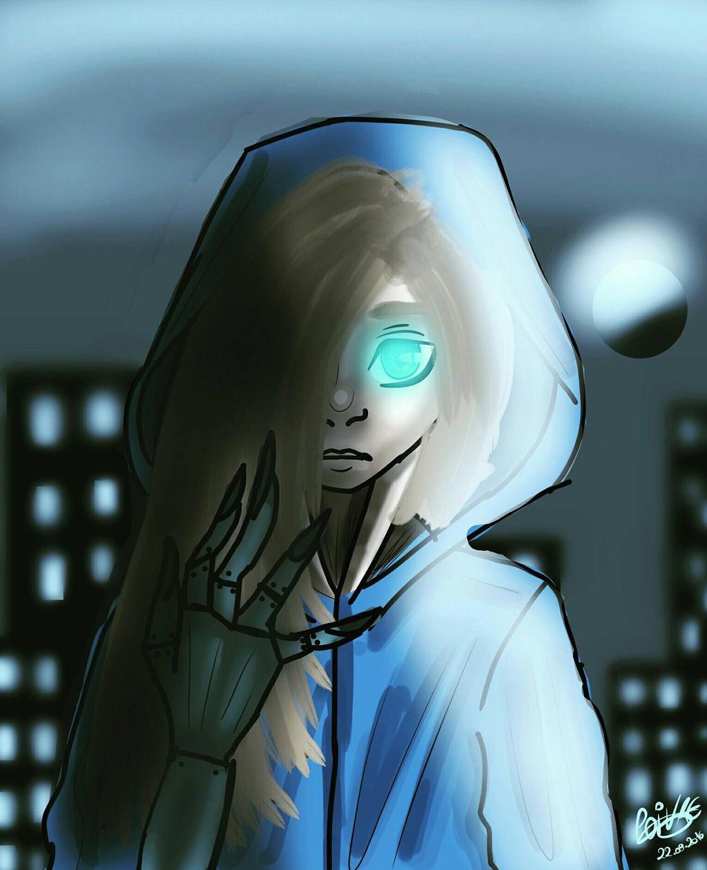 Metal Gear Rising Oc by moondaneka