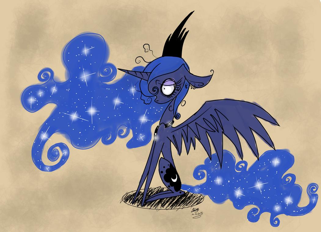MLP Princess Luna Tim Burton by moondaneka