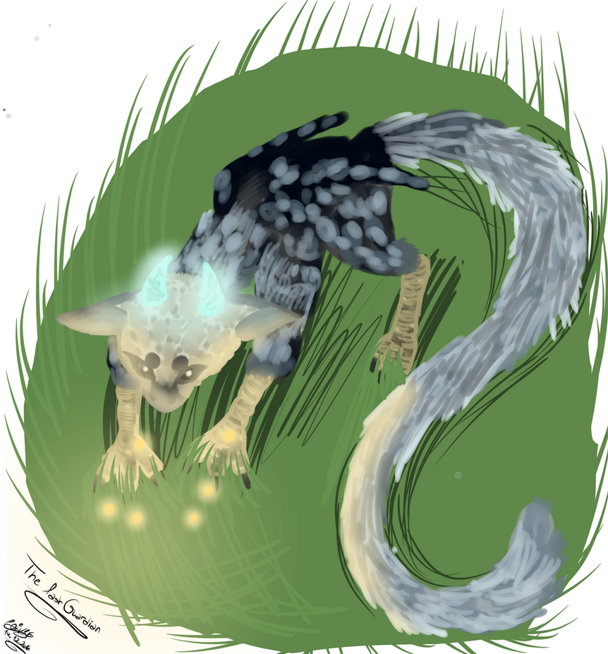 The last guardian Trico fanart by moondaneka