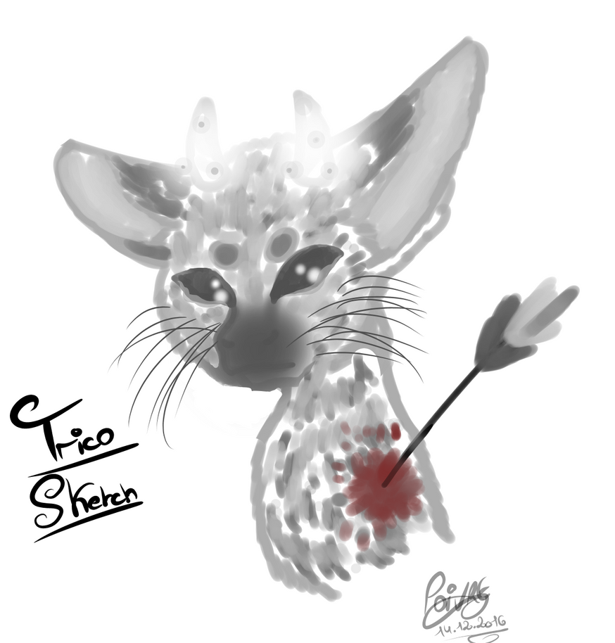 The last guardian Trico Sketch by moondaneka