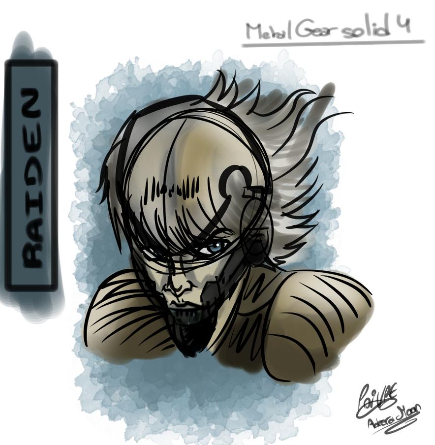 Metal gear solid 4 raiden sketch by moondaneka