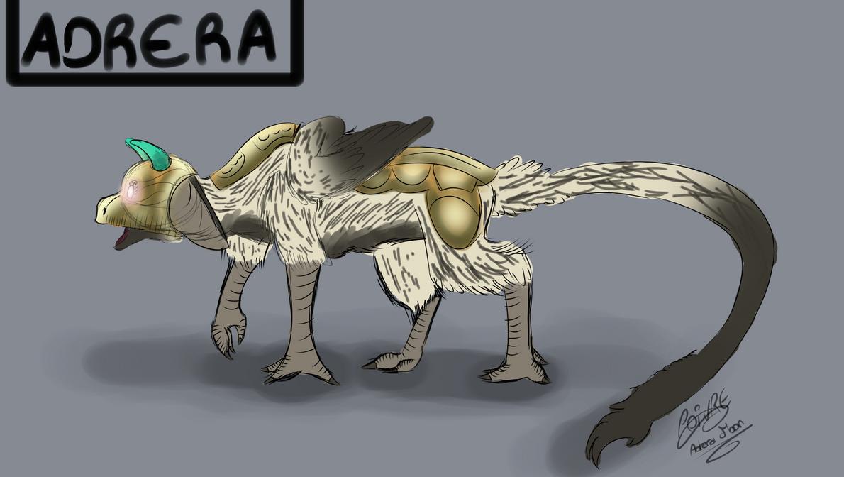 The last guardian Dark Adrera oc by moondaneka