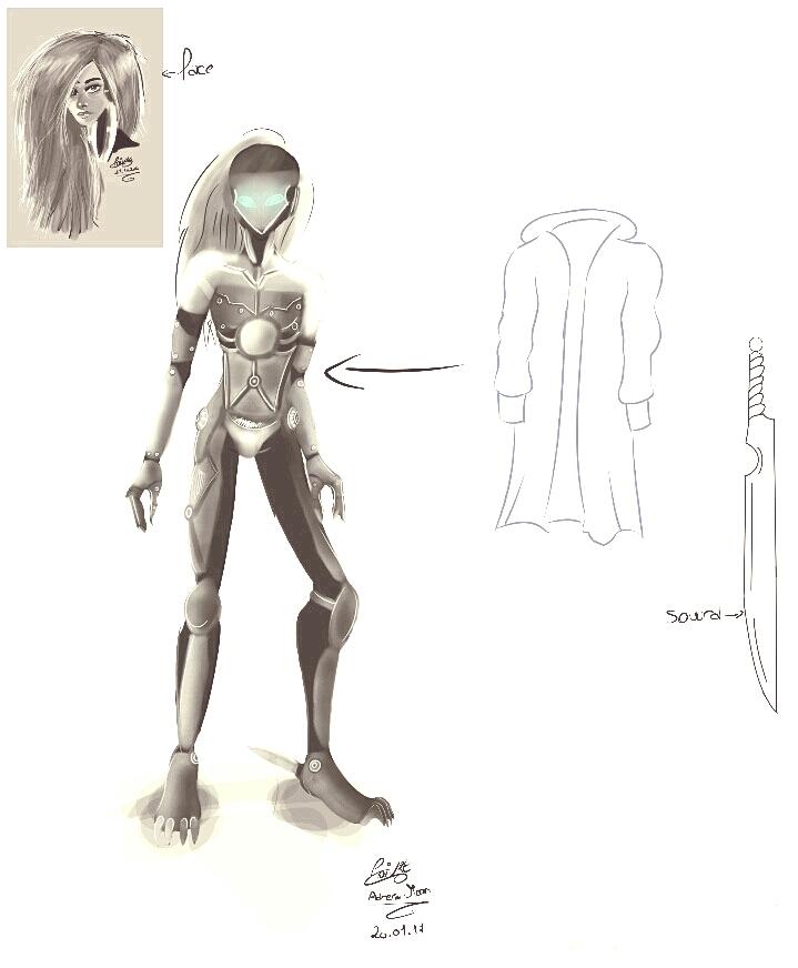 Metal gear rising concept art oc by moondaneka