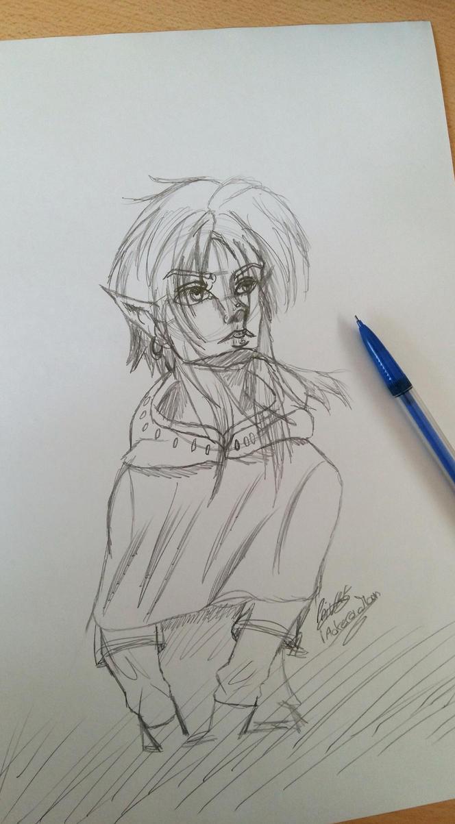 Zelda Breath of the Wild Link by moondaneka