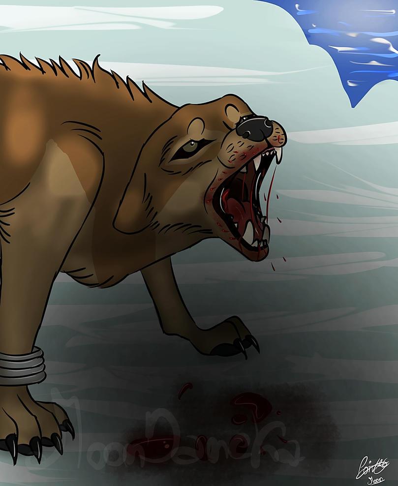 Wolf's rain Toboe vs Walrus by moondaneka