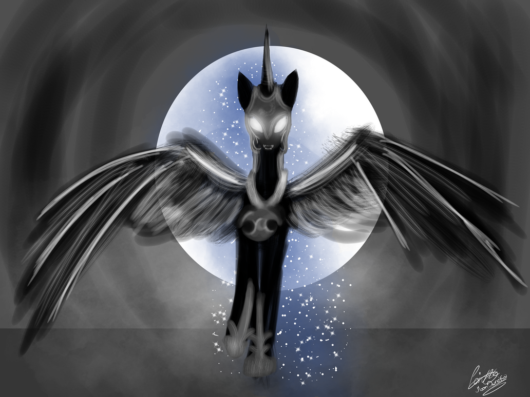Nightmare Moon mlp fanart by moondaneka