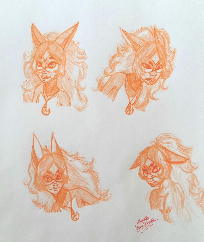Miraculous Alya Rena Rouge sketch by moondaneka