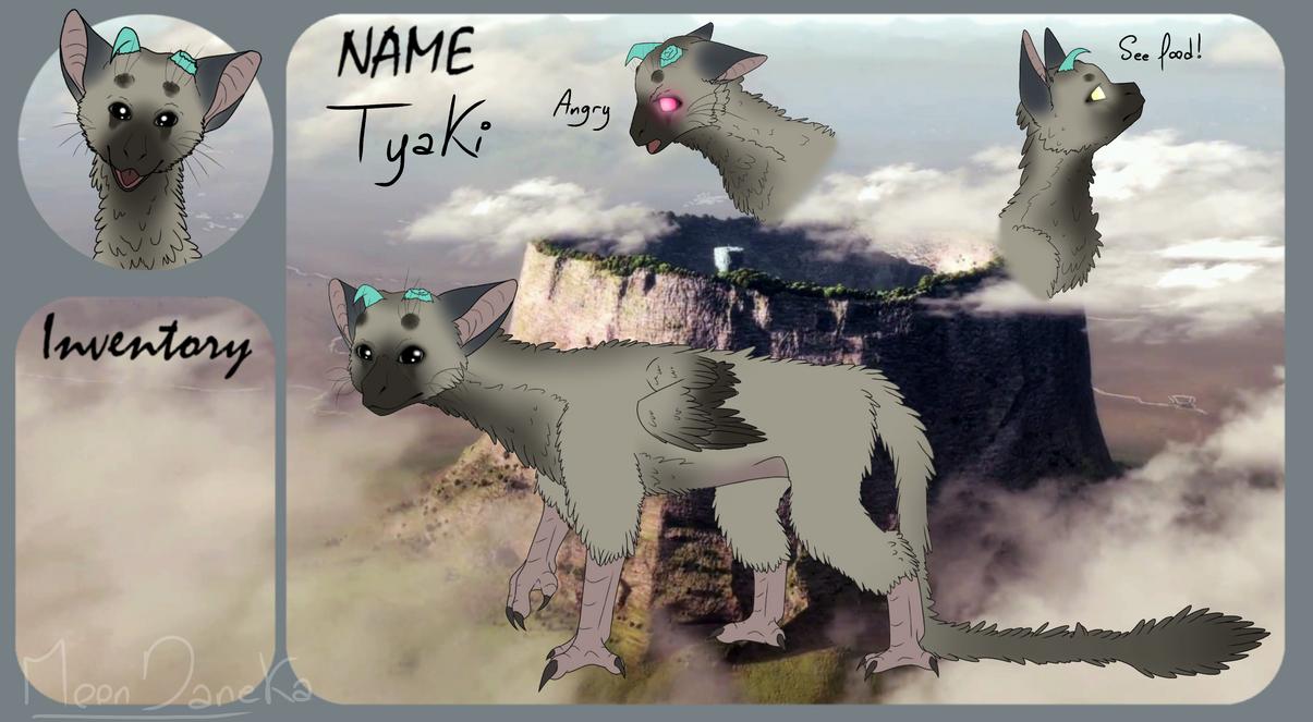 Tyaki trico specie OC refsheet! by moondaneka