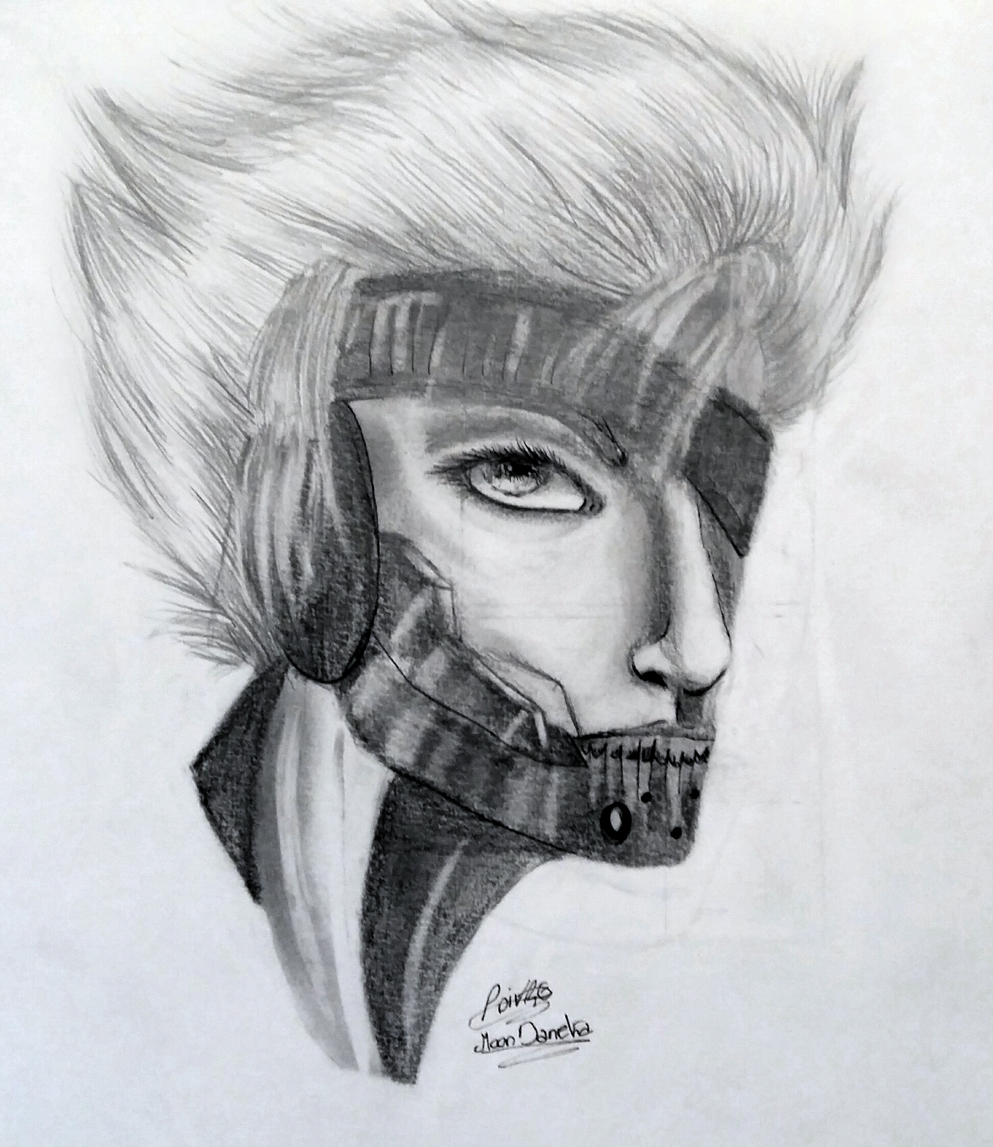 MGRR Raiden traditional portrait by moondaneka