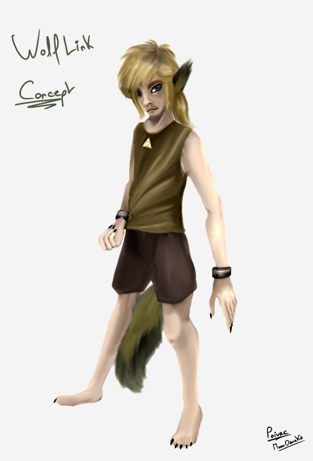 The Legends of Zelda - Wolf Link (concept art) by moondaneka