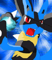 Lucario: The Power of Aura by WinterIceFox