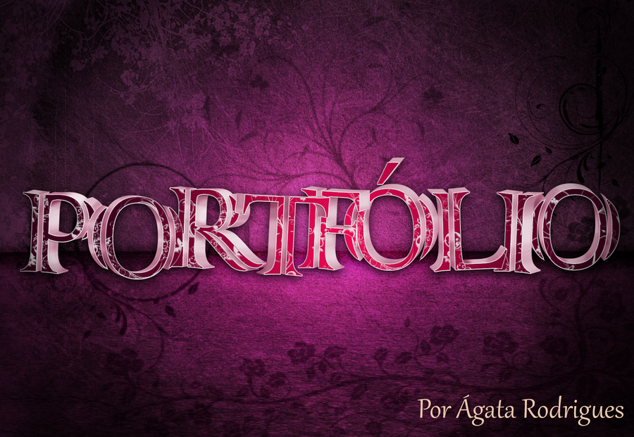 Portfolio Cover by AgataRodrigues on DeviantArt
