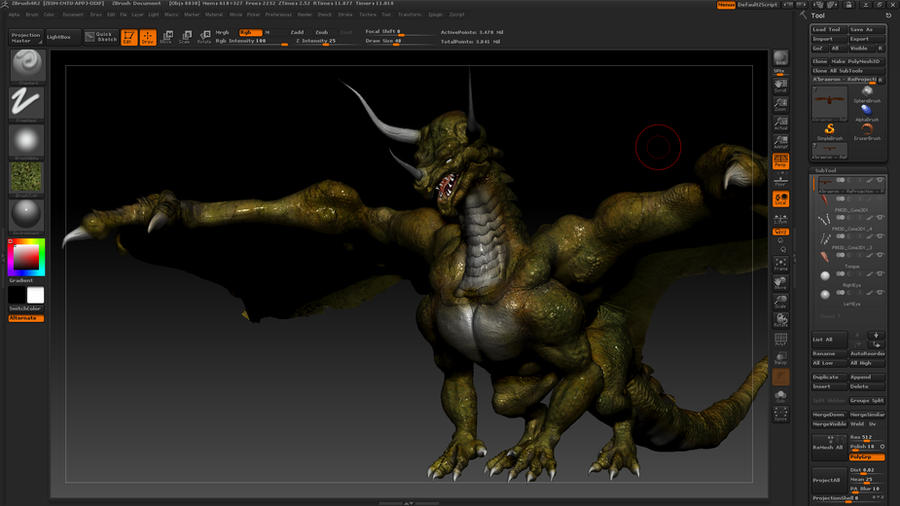 WIP - A'Braeron - 3D Digital Sculpt and Paint by smokejaguar