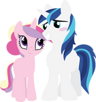 Teen Cadence and Shining Armor