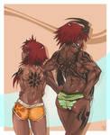 Hanna and Alexi Tattoos