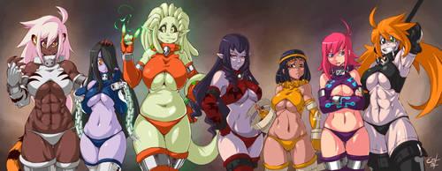 Battle Suit Girls by Petite-Emi