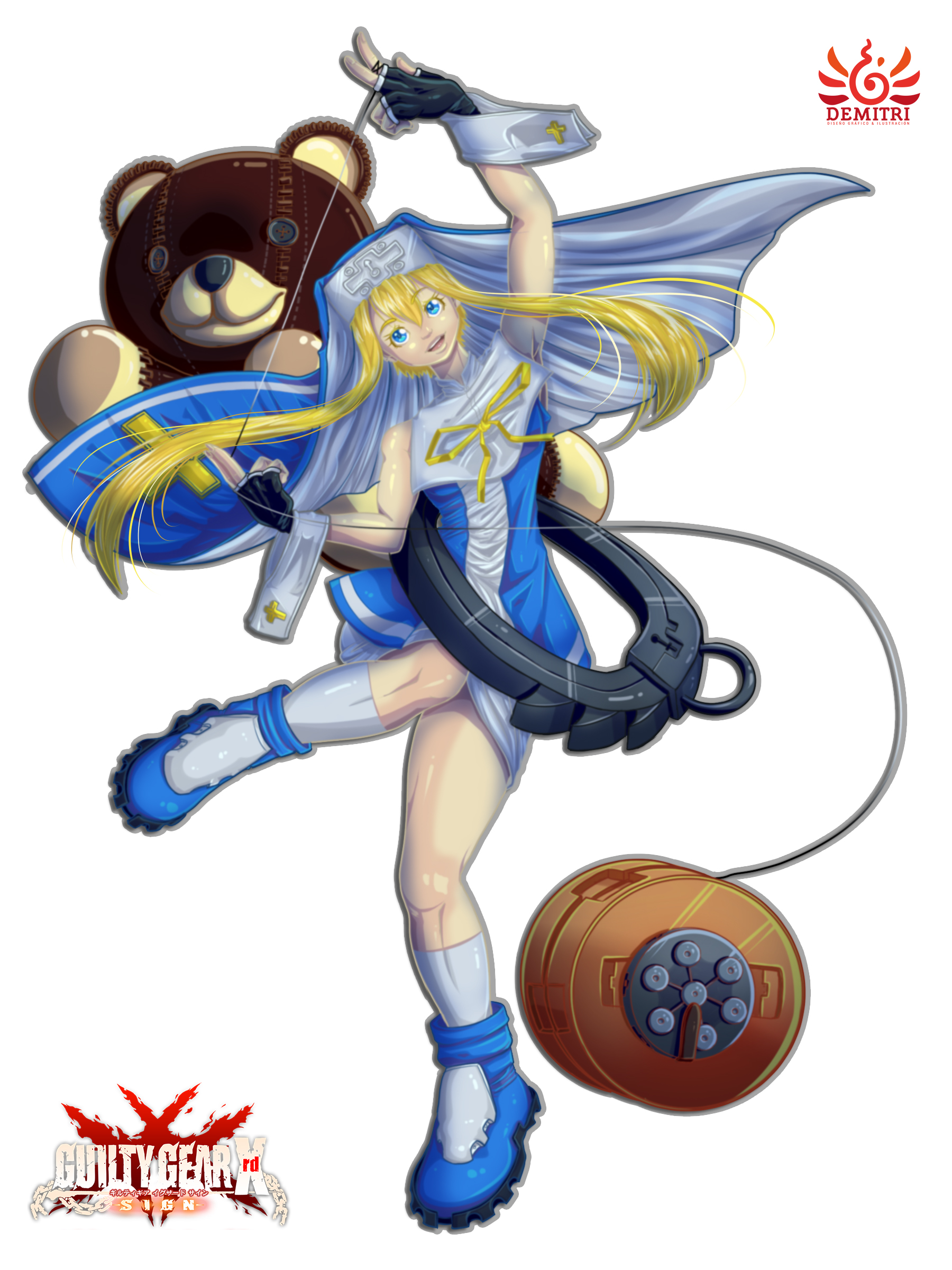 Bridget Guilty Gear Fanart By Fitoowlfish On Deviantart