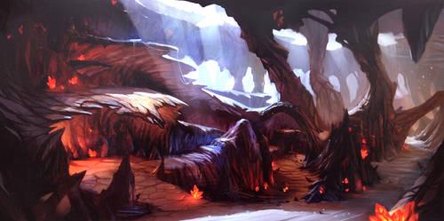 Cave by Zudartslee