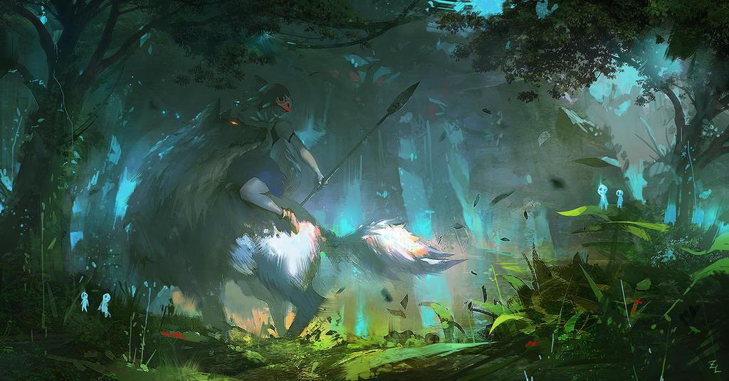 Princess mononoke by zudartslee on deviantart - Mononoke anime wallpaper ...
