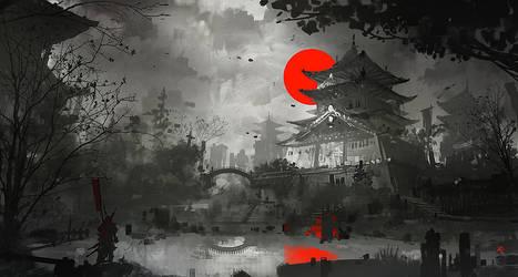 Osaka Castle concept 2h by Zudartslee