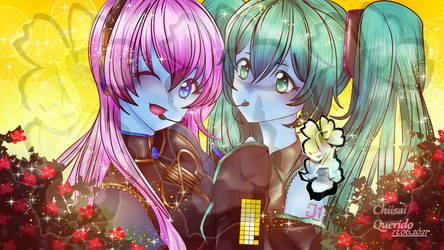 Megurine Luka and Miku Hatsune-blueskinned Version by ChiisaiQuerido
