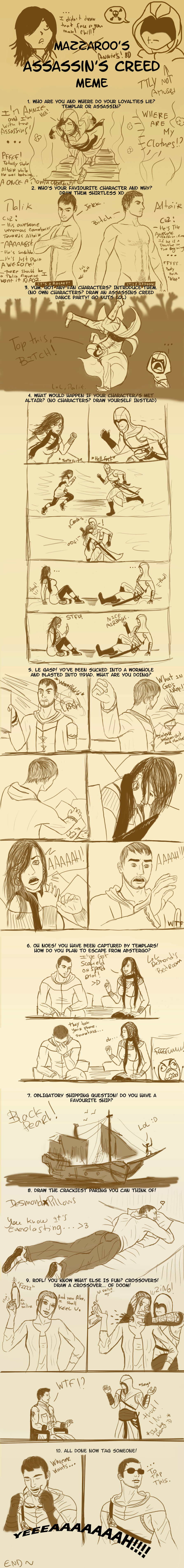 Assassin's DWEEB meme . by NevanAnxa