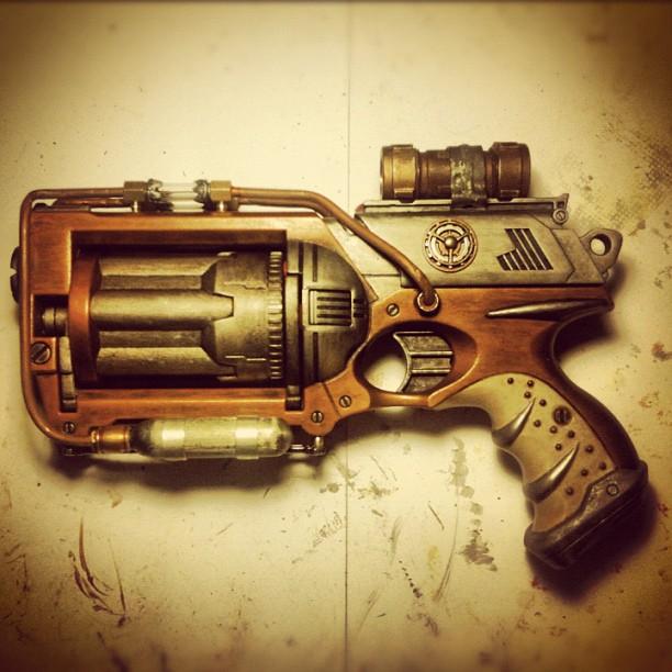 Steampunk Nerf Gun Maverick N-Strike Mod: Full Gun by eyeconartist
