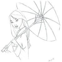 Mulan sketch by landesfes