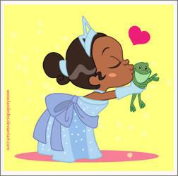 Chibi Princess Tiana by landesfes