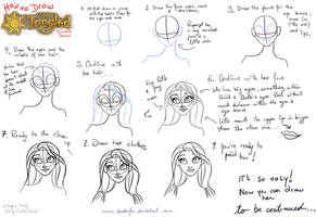How to Draw Rapunzel 1 by landesfes