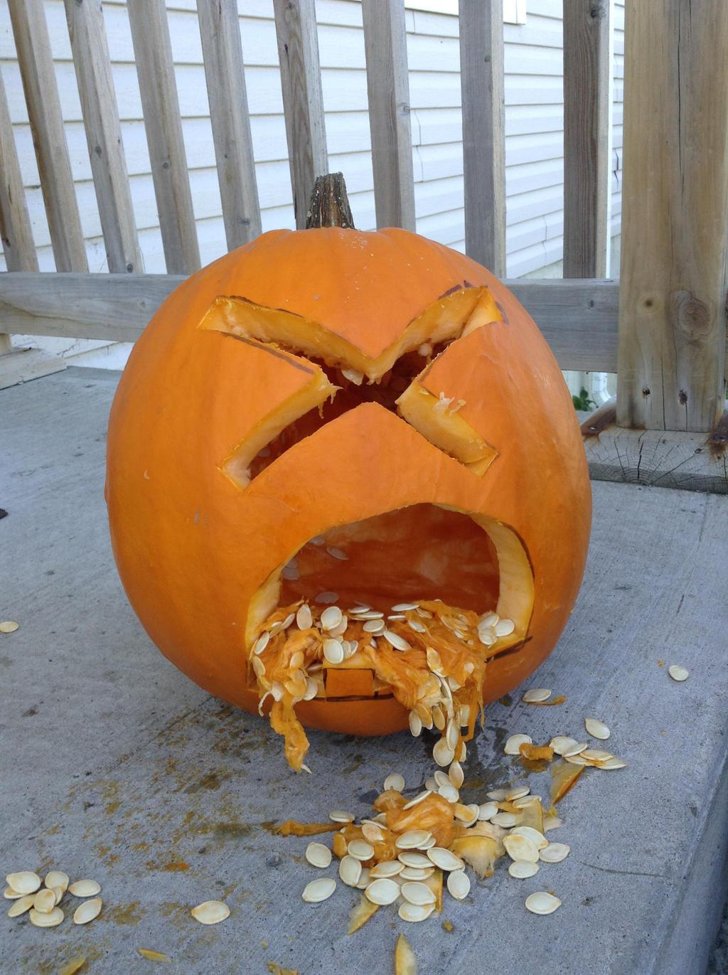 Puking Emoji pumpkin! by TheNeonUmbreon on DeviantArt