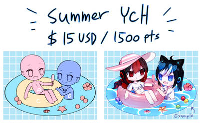 [OPEN] Summer Couple Ych [POINTS/PAYPAL]
