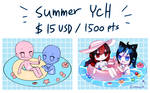 [HOLD] Summer Couple Ych by Operation-NovaCross