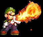 Luigi Using the Fire Element