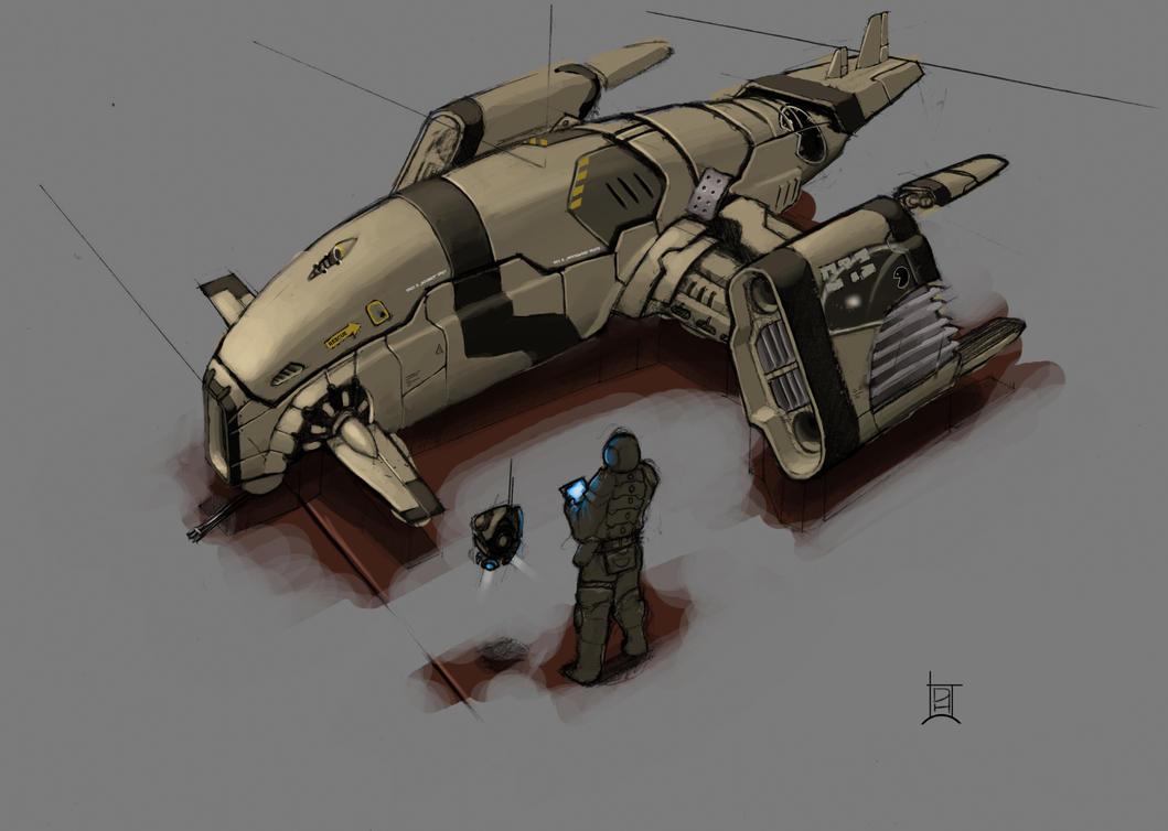 spaceship design by Davver