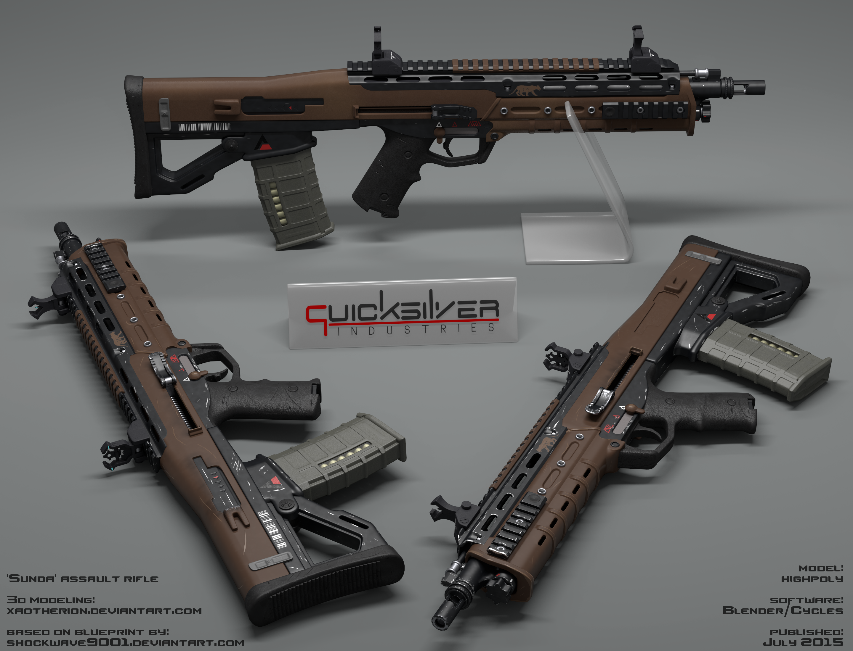 Sunda Assault Rifle Original Version By Xaotherion On