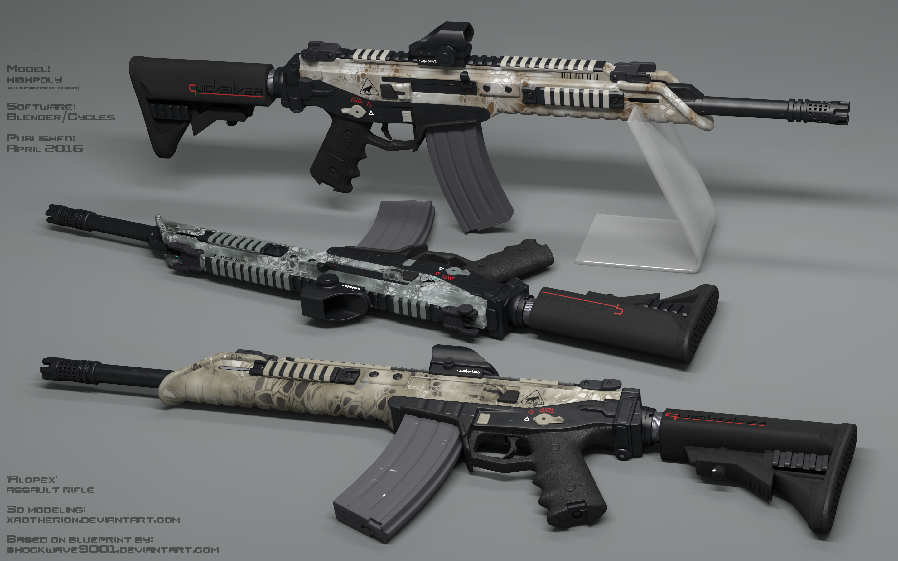Alopex Assault Rifle By Xaotherion On DeviantArt