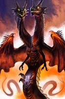 Double head twin dragon by ononheli