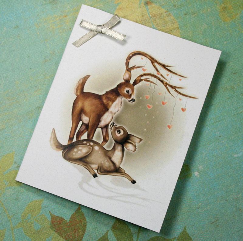 Valentines Deer Card by helloheath