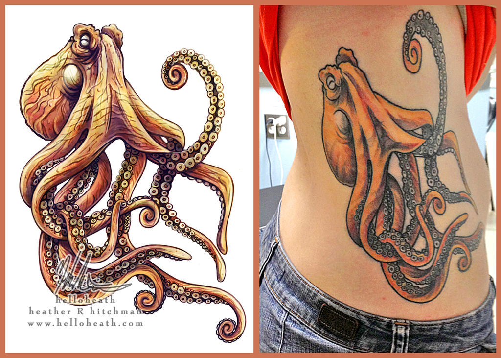 giant pacific octopus tattoo design ink by heatherhitchman on deviantart. Black Bedroom Furniture Sets. Home Design Ideas