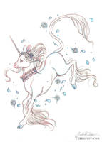 Blue Rose Unicorn