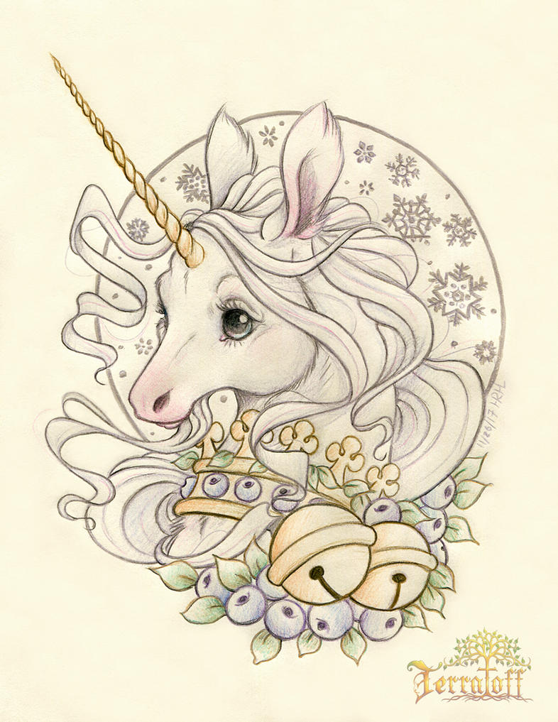 SugarPlum Unicorn Holiday Design by HeatherHitchman