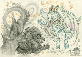 The Two Dragons by HeatherHitchman
