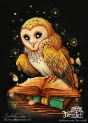 Witta The Owl Painting by HeatherHitchman