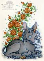 The Wee Black Unicorn by HeatherHitchman