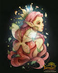 The Strawberry Summer Seelie Fae - Full Color