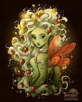 The Unseelie Strawberry Fae - Full Color