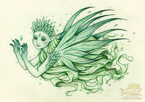 The Seelie Emerald Crystal Fae