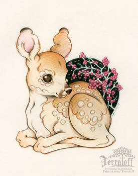 Fawn of Winter Berries