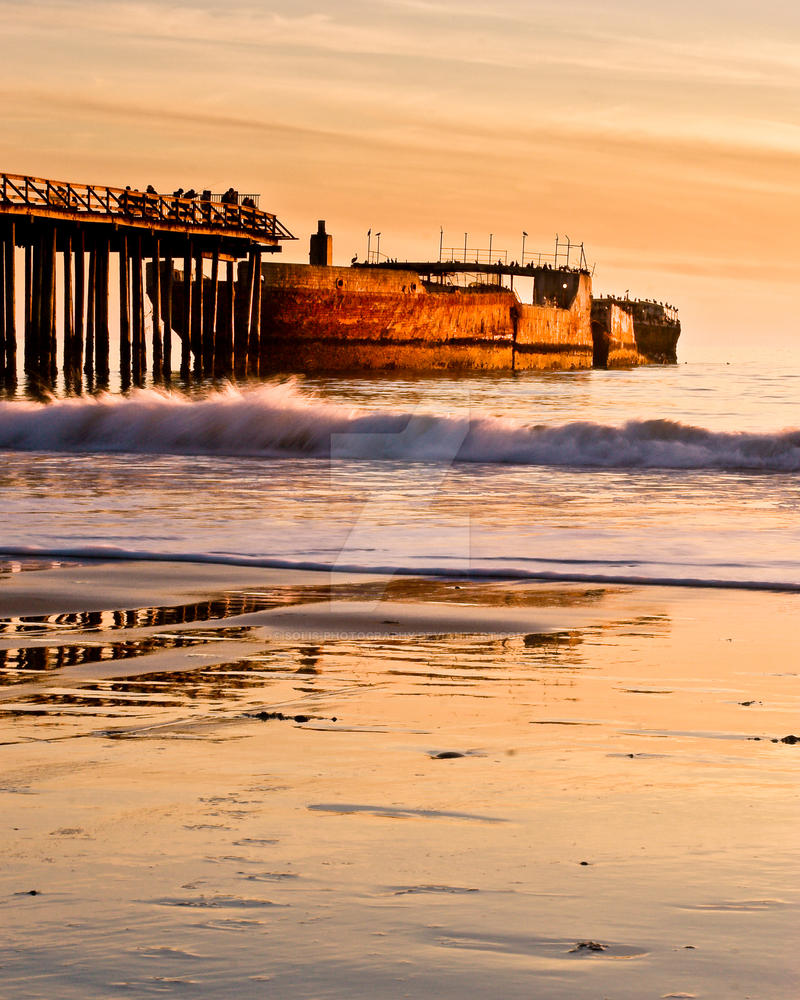 Cement Ship at Sunset by Solis-Photography